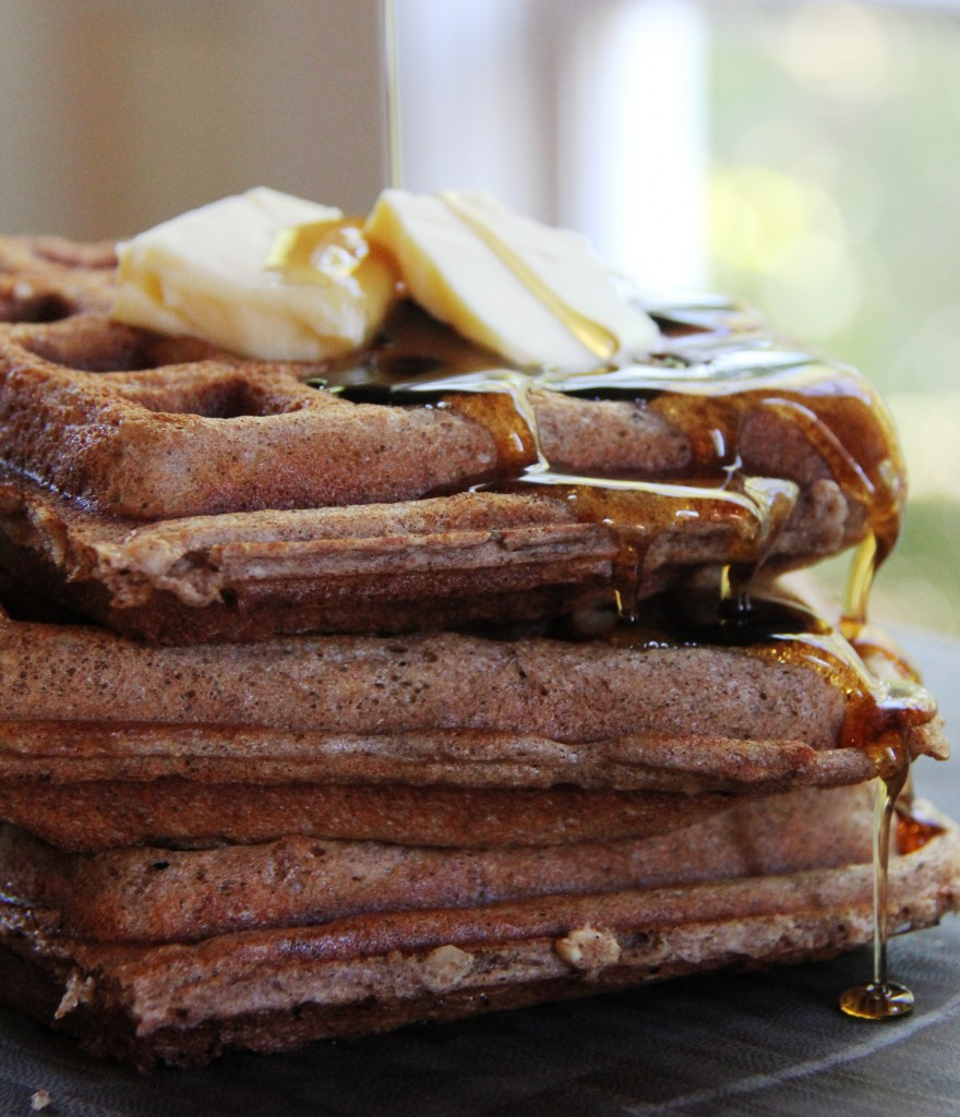 Whole Grain Cinnamon Nut Waffles