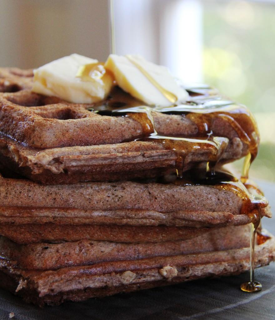 Whole Grain Cinnamon Nut Waffles | Sumptuous LivingSumptuous Living