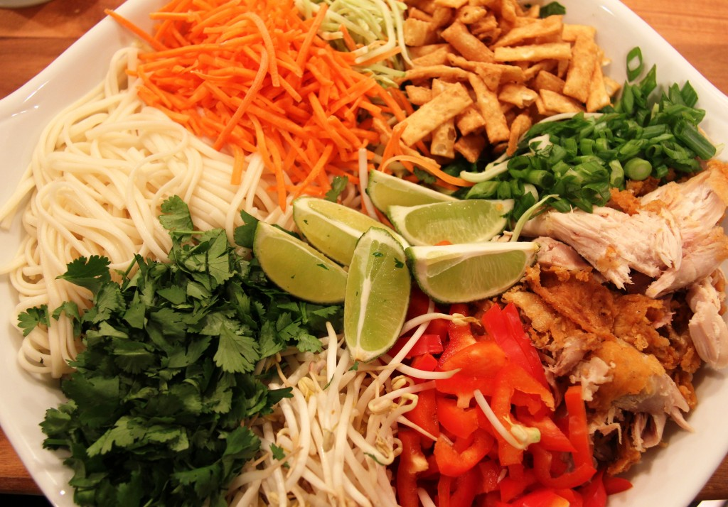 Dinner in a Flash: 10 Minute Fried Chicken Chinese Noodle Salad