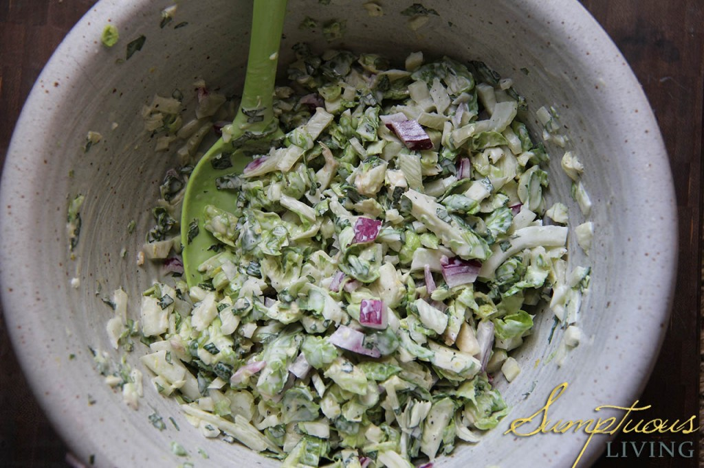 Brussels and Fennel Slaw
