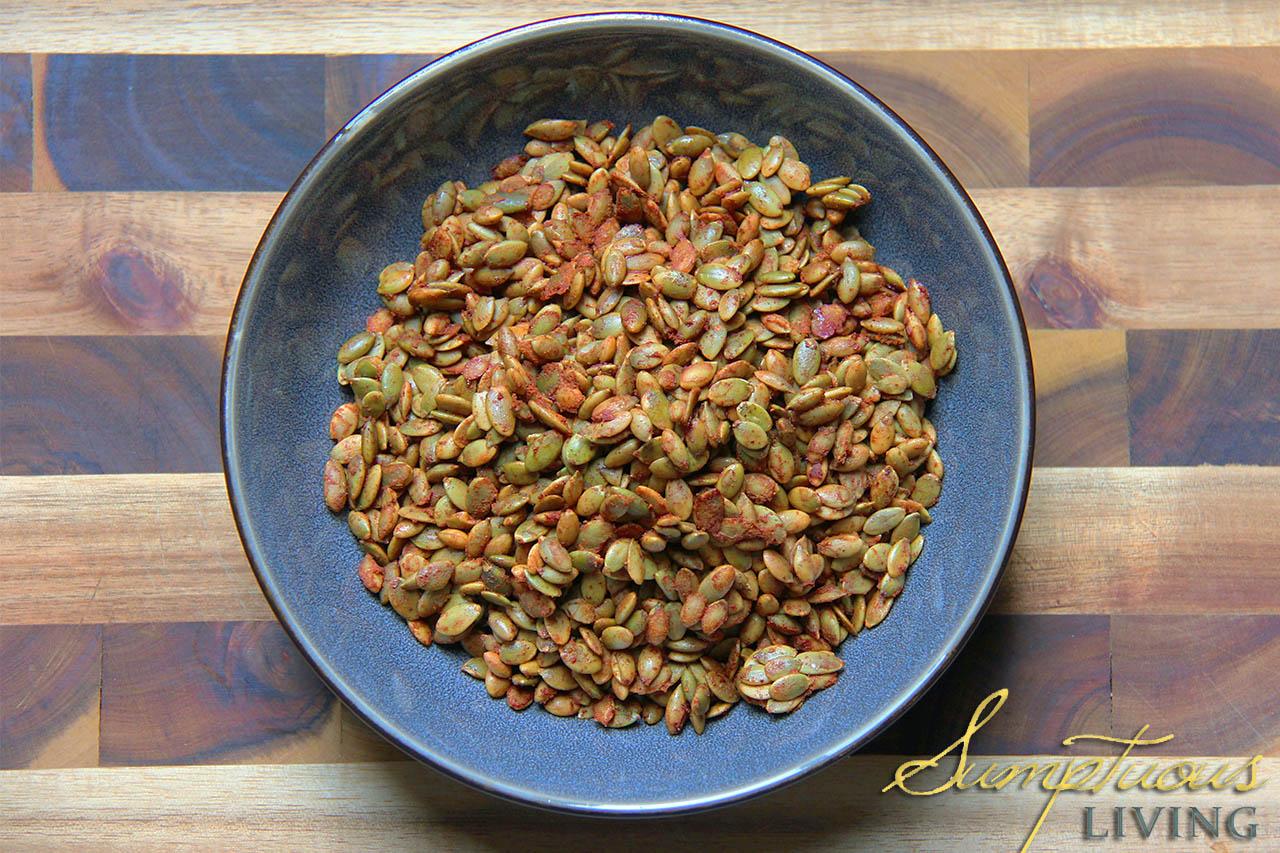 Spiced Pumpkin Seeds - Sumptuous Living