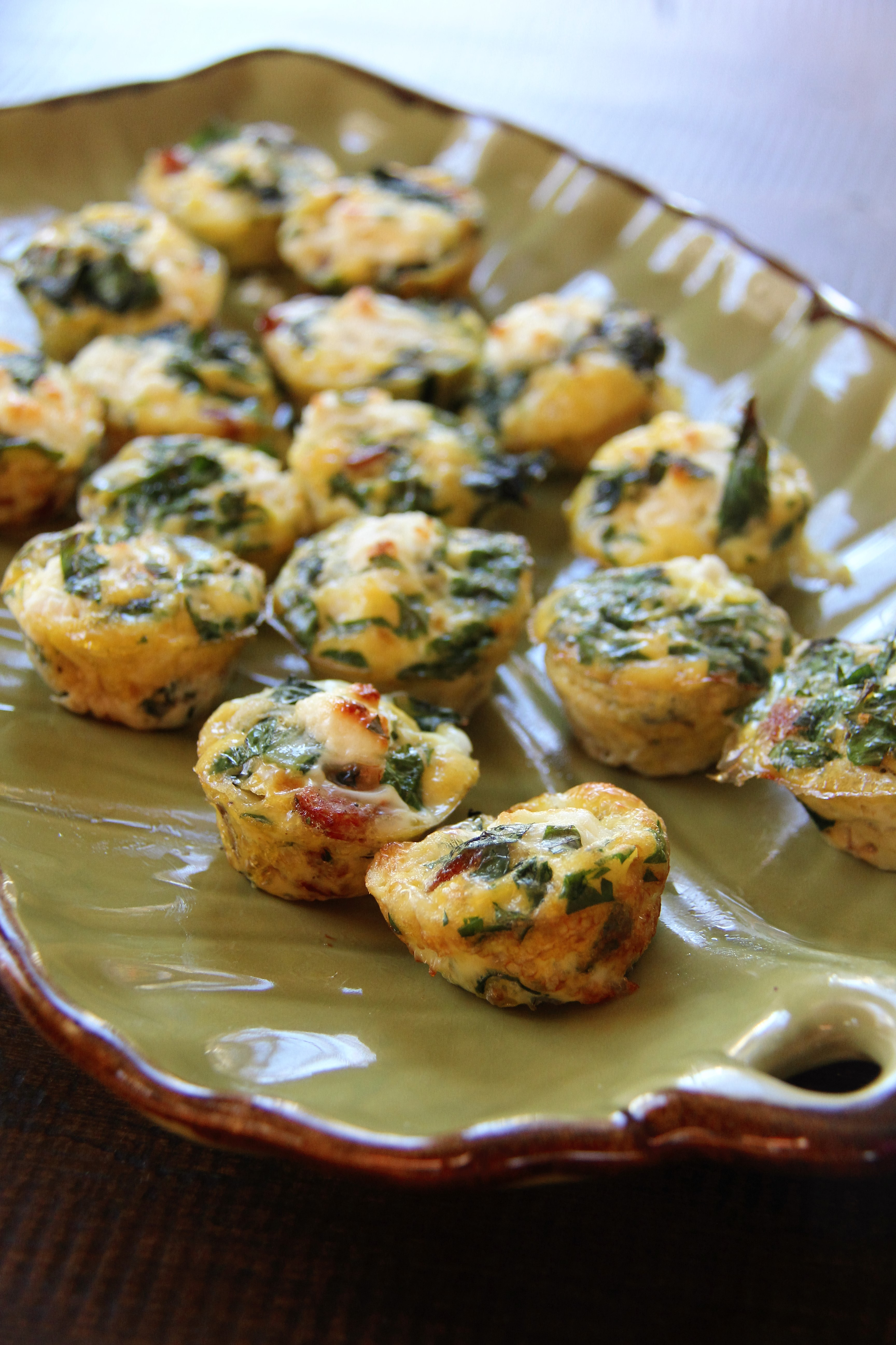 "Sausage, Kale , & Goat Cheese Frittata Bites: So ""POP-In-Your Mouth ..."
