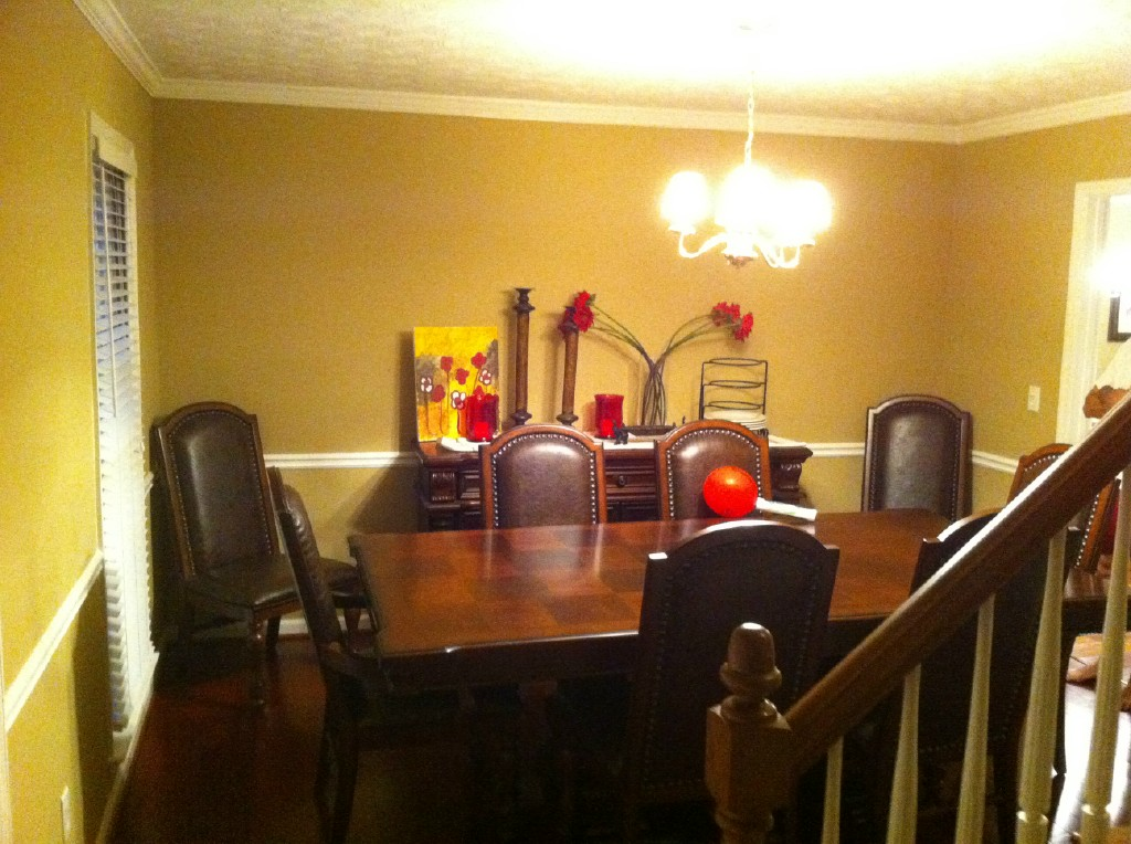 before dining room finishing touches