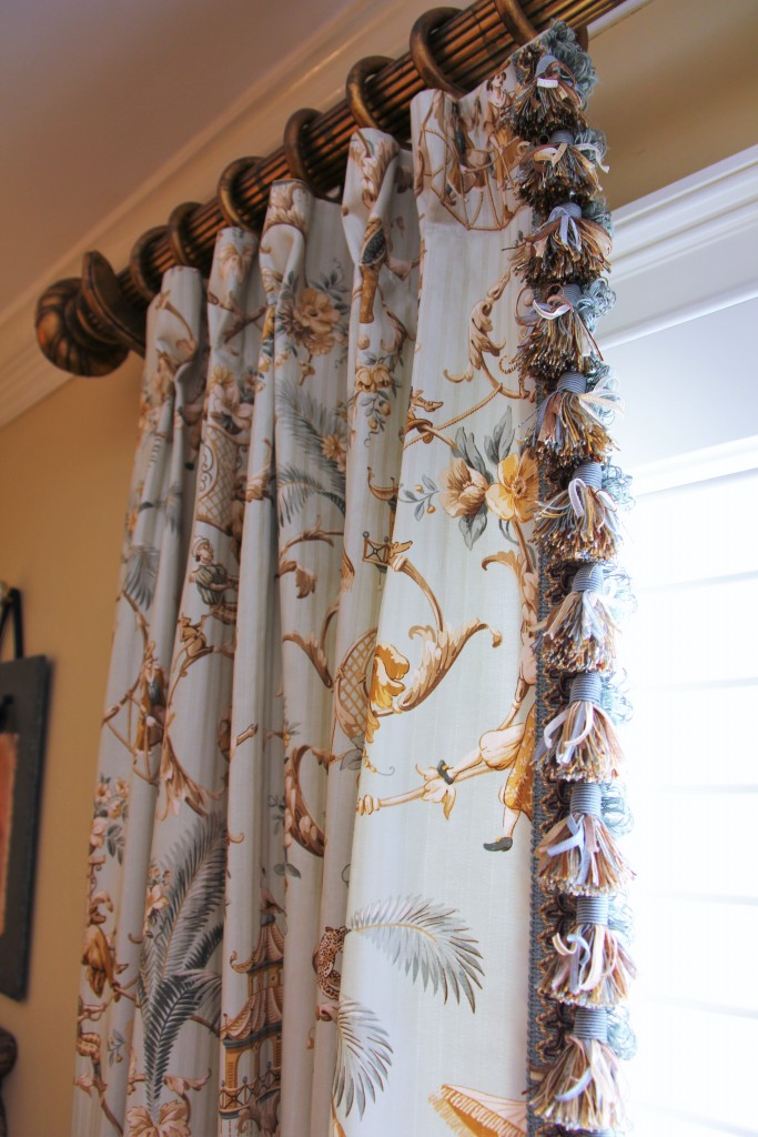 Antique Dining Room Custom Curtains