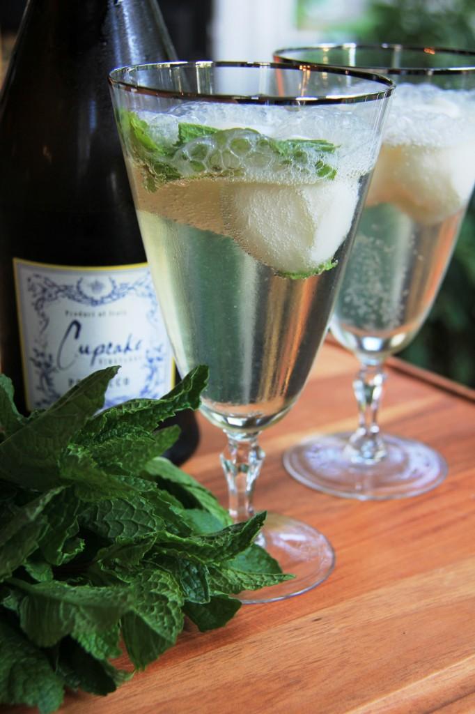 lemon champagne cocktail 6