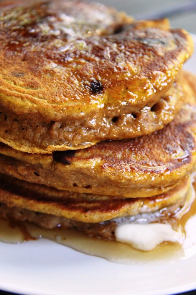 Pumpkin Chocolate Chip Pancakes 7