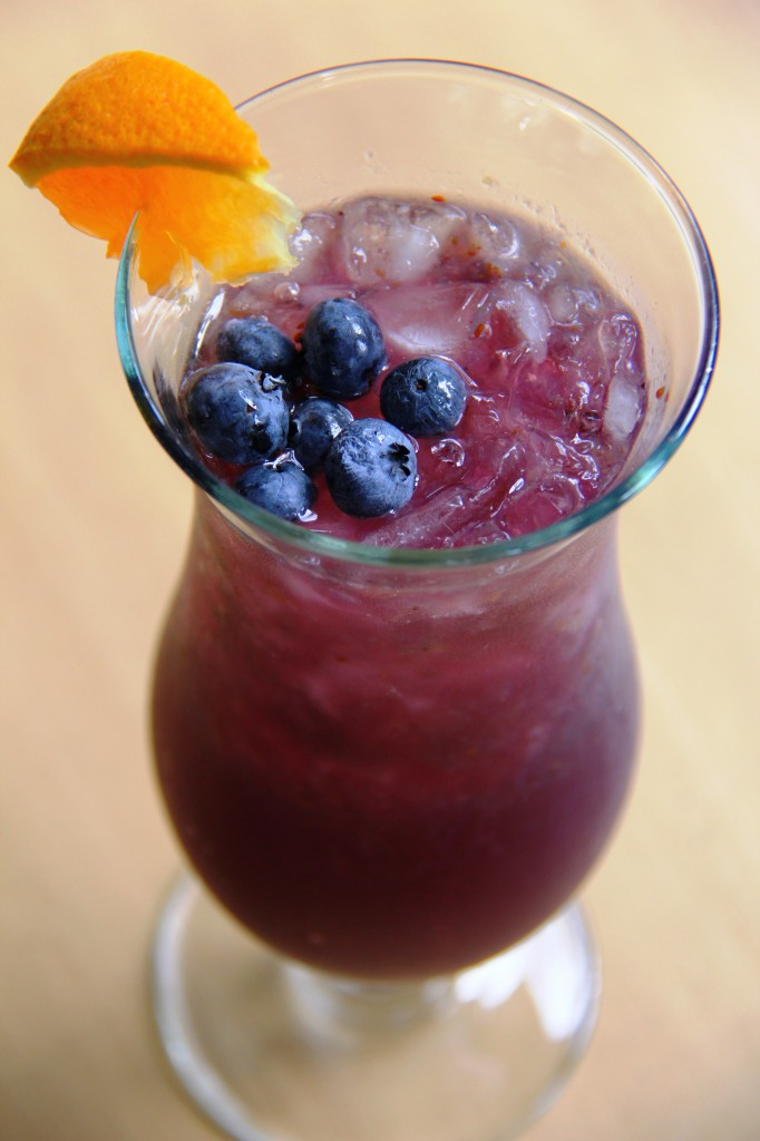 Blueberry rum cocktail