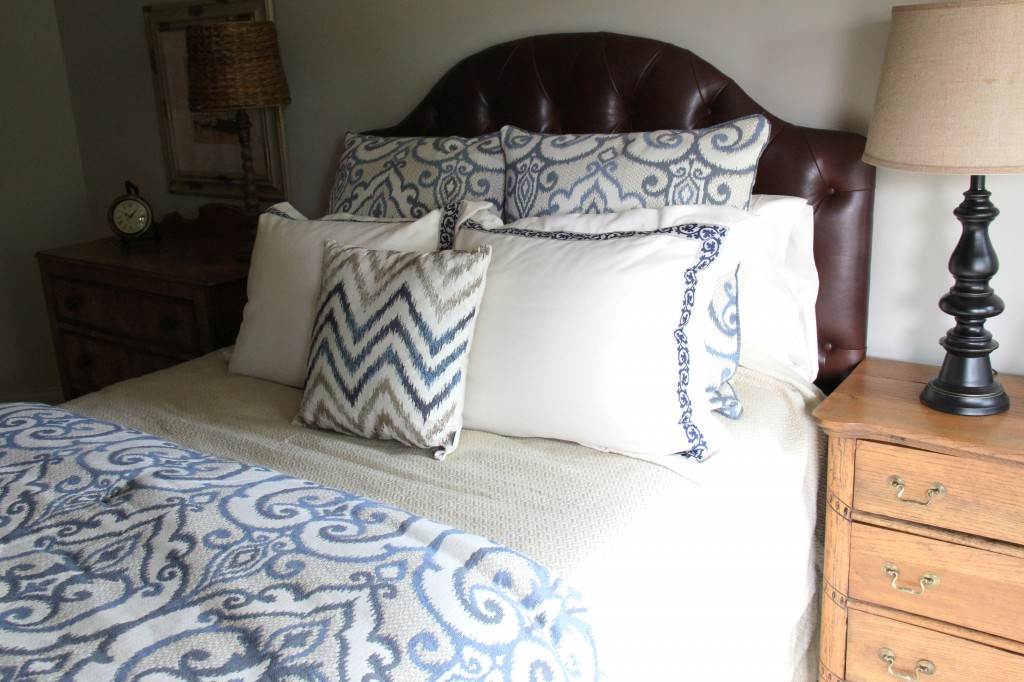 easy bedroom makeover fabric 7
