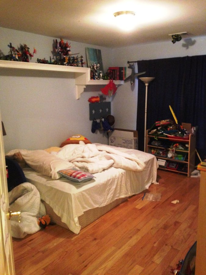 BEFORE boys robot bedroom