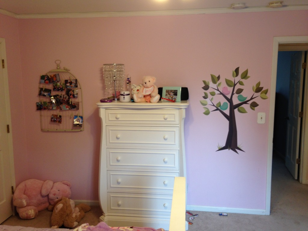 before pic of pink bedroom