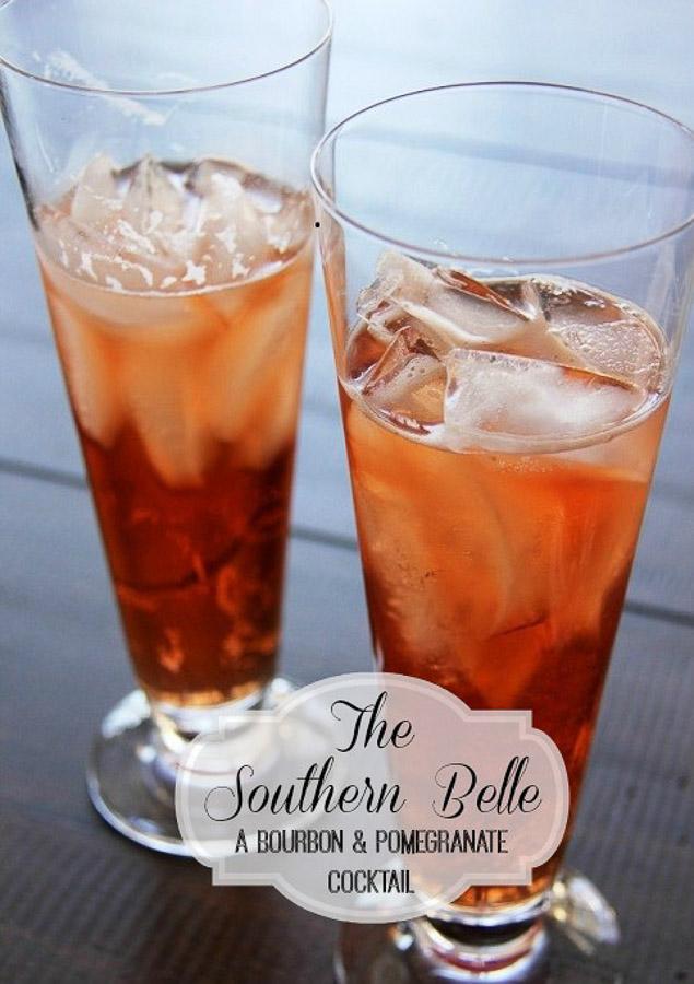 bourbon pomegranate cocktail 1