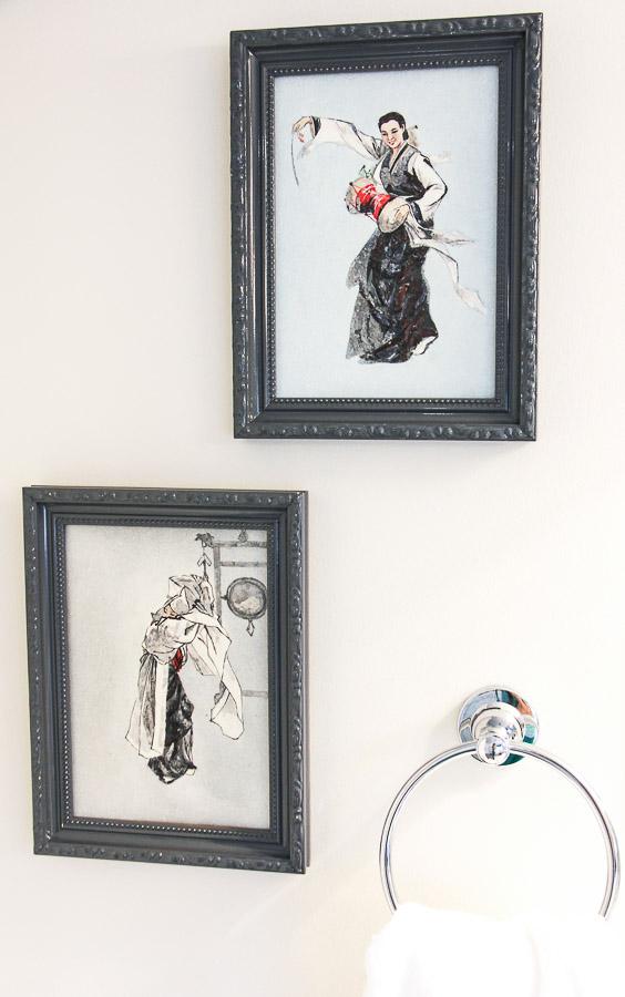 small bathroom remodel art