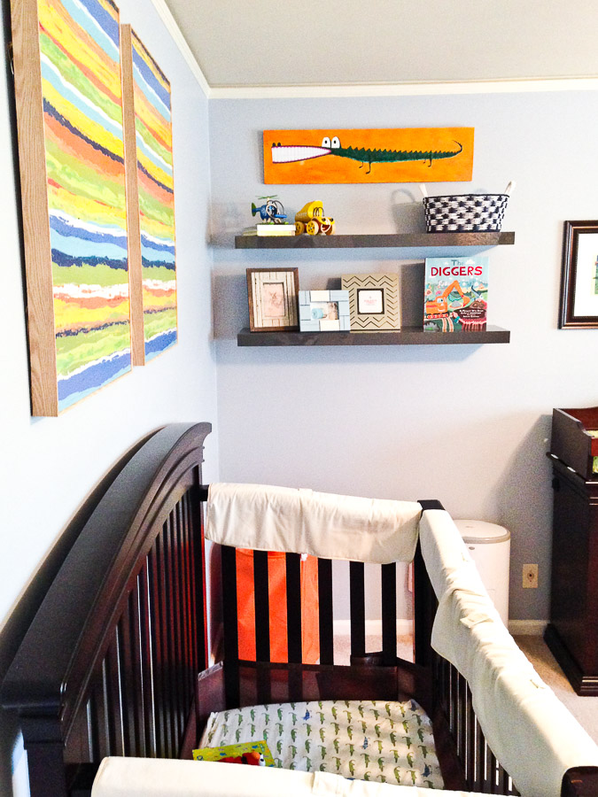 blue orange boy nursery
