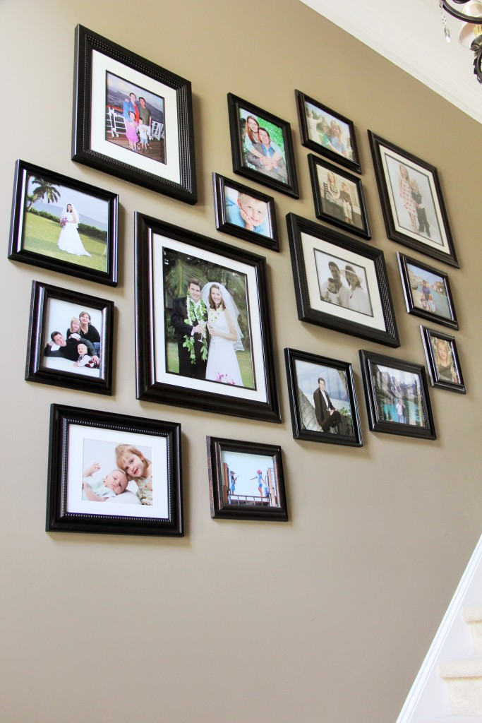 Start with biggest frames evenly spaced