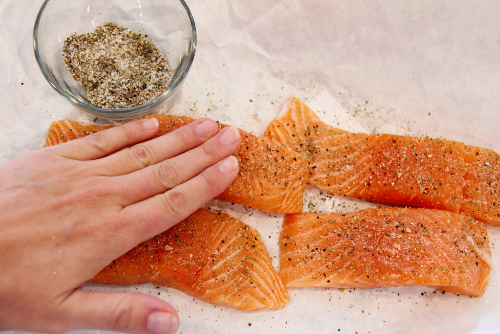 greek salmon with couscous prep 7