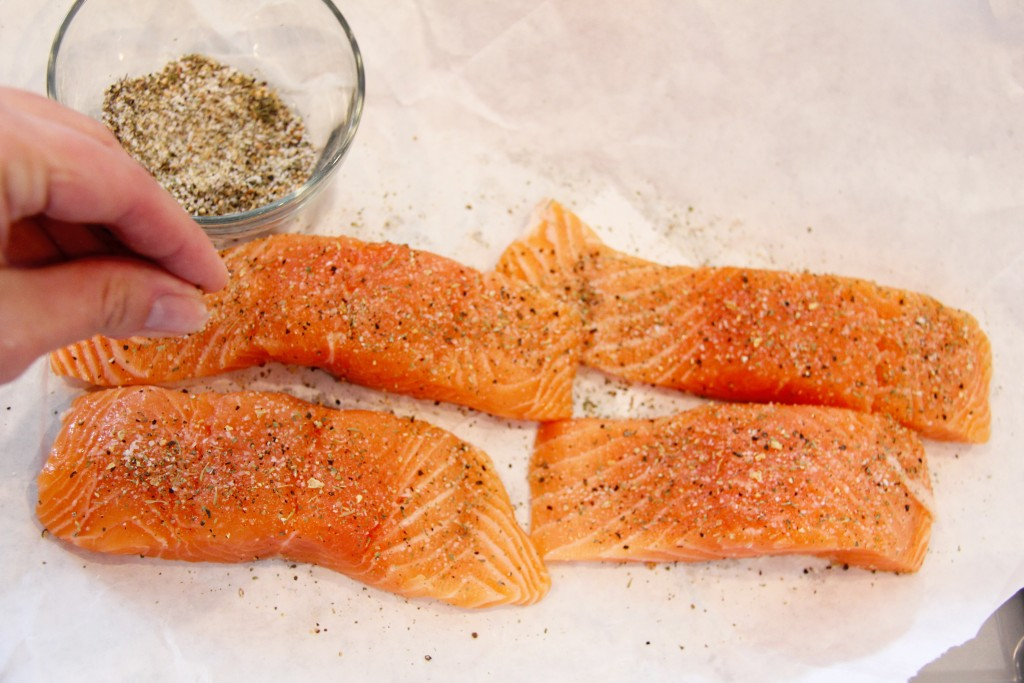greek salmon with couscous prep 4