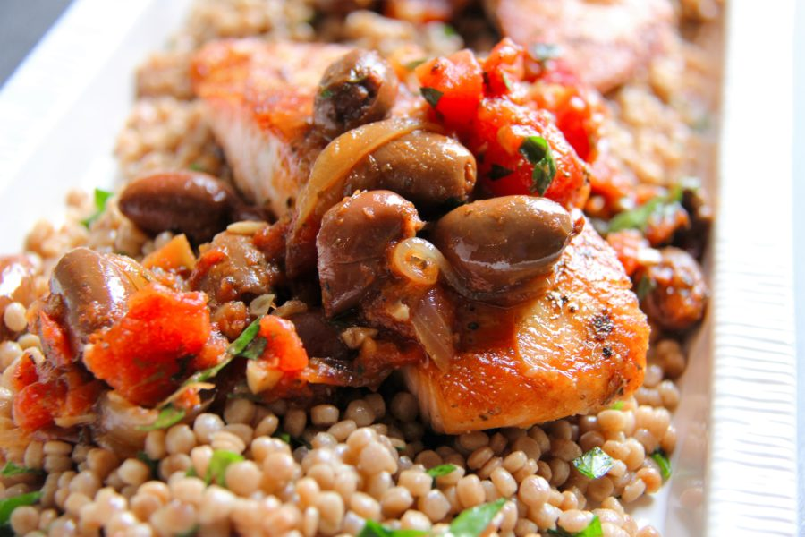 greek salmon with couscous 2