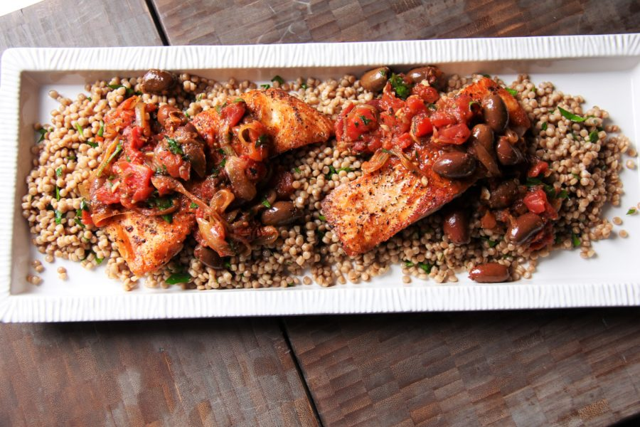 greek salmon with couscous 1