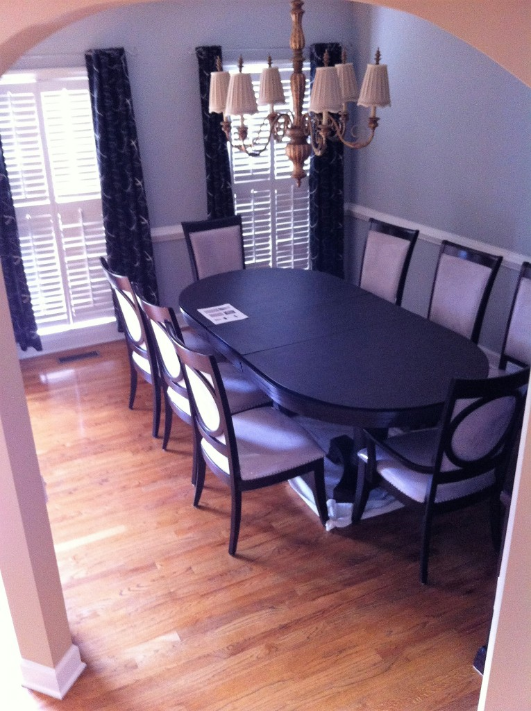 quick dining room makeover before 1