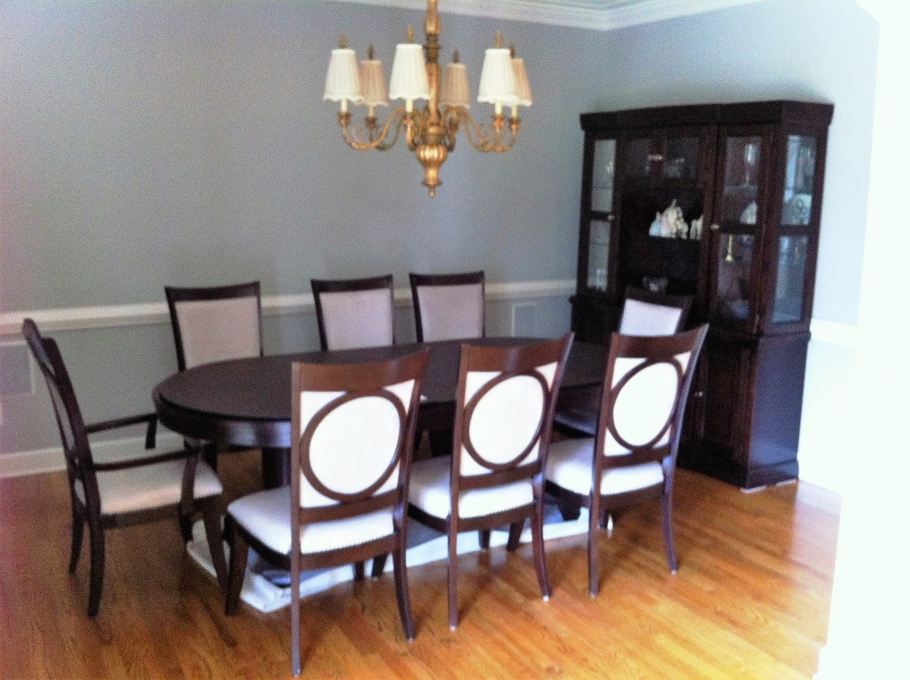 quick dining room makeover before 2