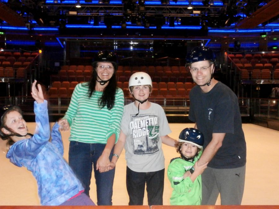 best family caribbean cruise skating