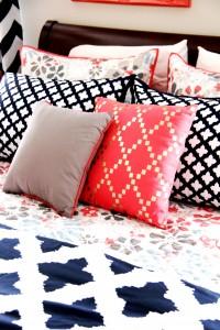navy coral bedroom bedding