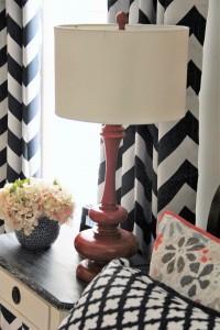 navy coral bedroom lamp