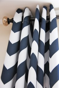 navy coral bedroom curtains