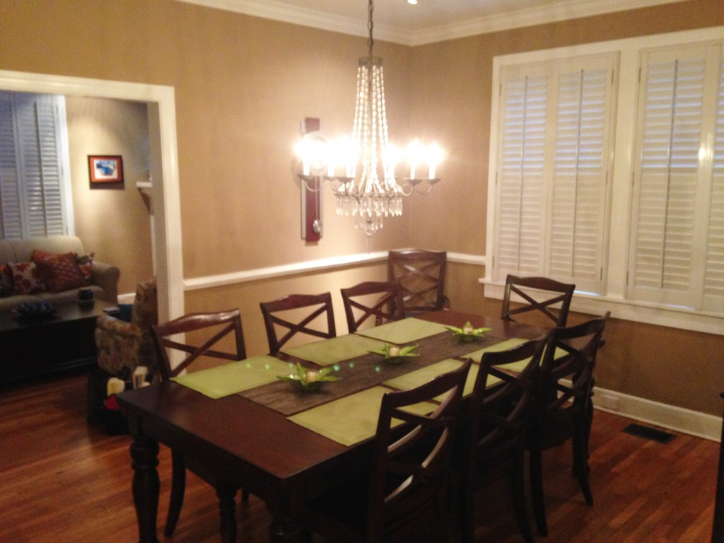 modern craftsman dining room before 2