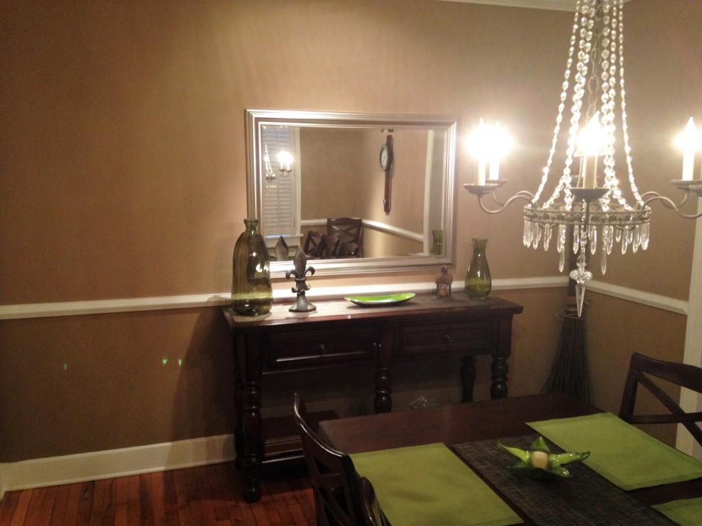 modern craftsman dining room before 1