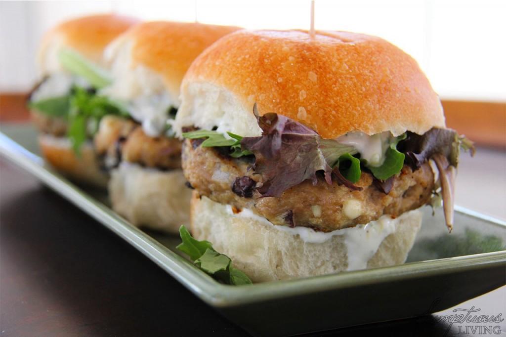 Greek turkey burger sliders