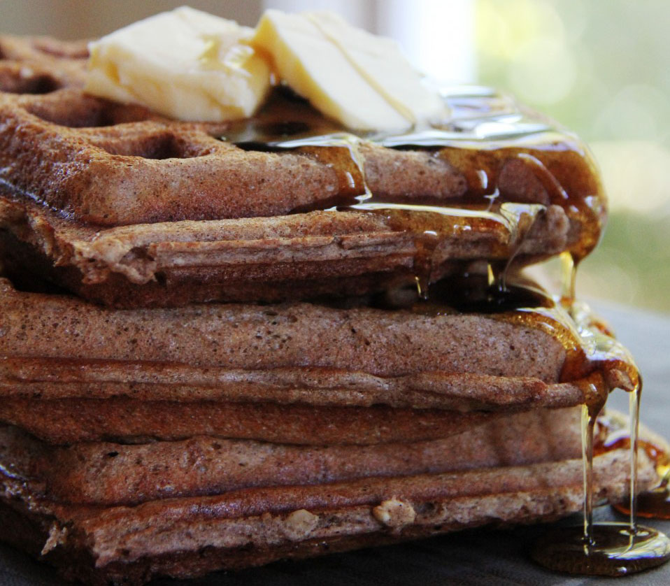 Classic waffles with a twist. Whole grains make it better for you, and cinnamon and nuts just make it better!