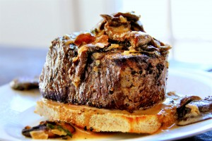 beef filet with mushroom sauce 3