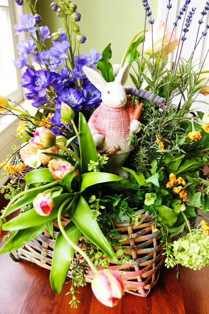 Easter Basket Floral Arrangement 15