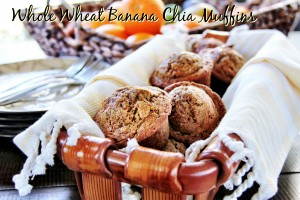 banana chia muffins 6
