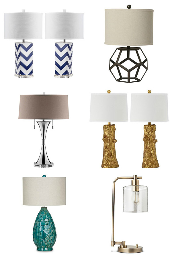 budget table lamps