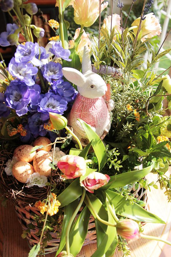 easter basket floral arrangement 8