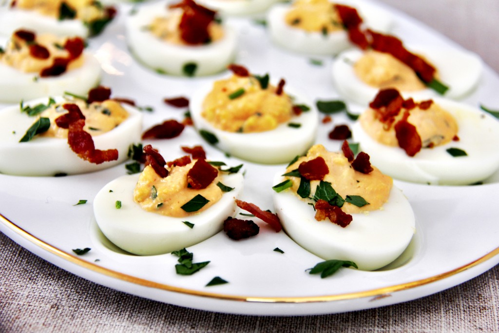 Sriracha Bacon Deviled Eggs Recipe easter Side dish recipes