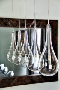 new chandelier urban dining room