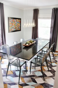 Modern dining room with urban design