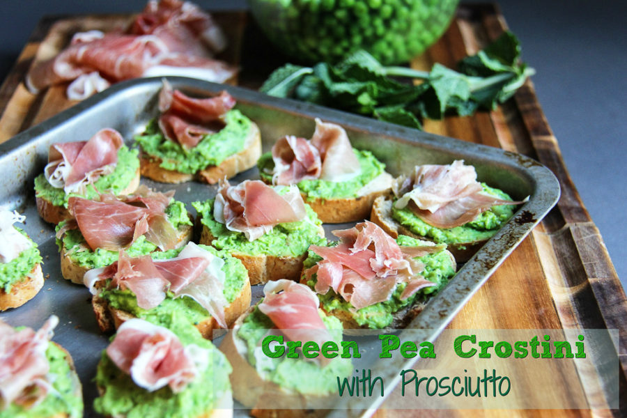 Green Pea Crostini
