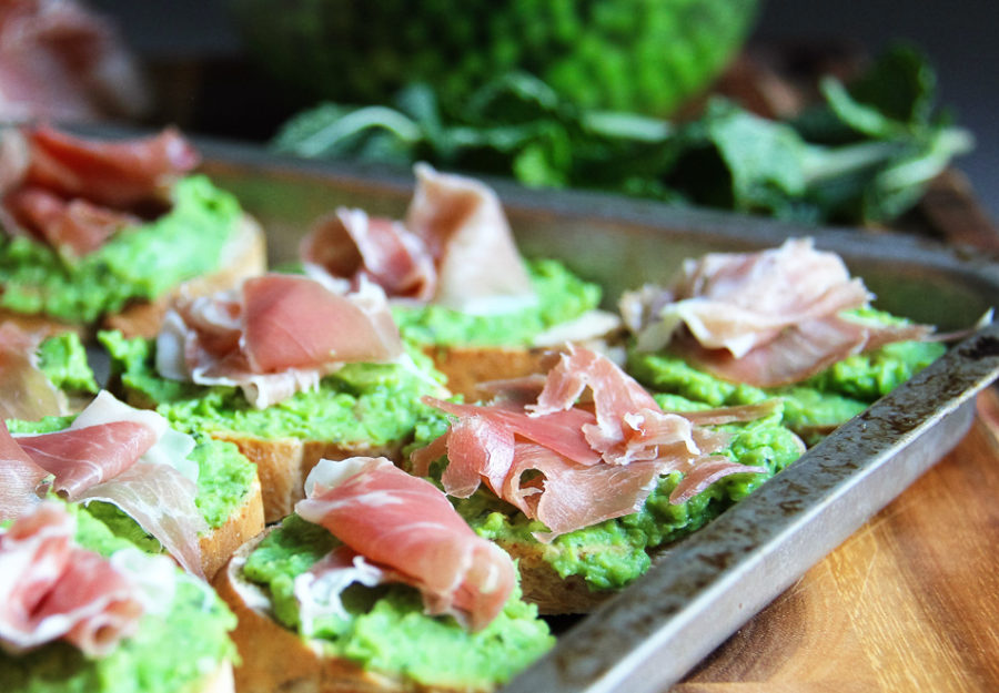 Green Pea Crostini 6