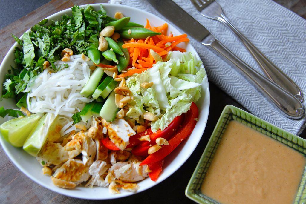 Recipe for Thai Noodle Bowls