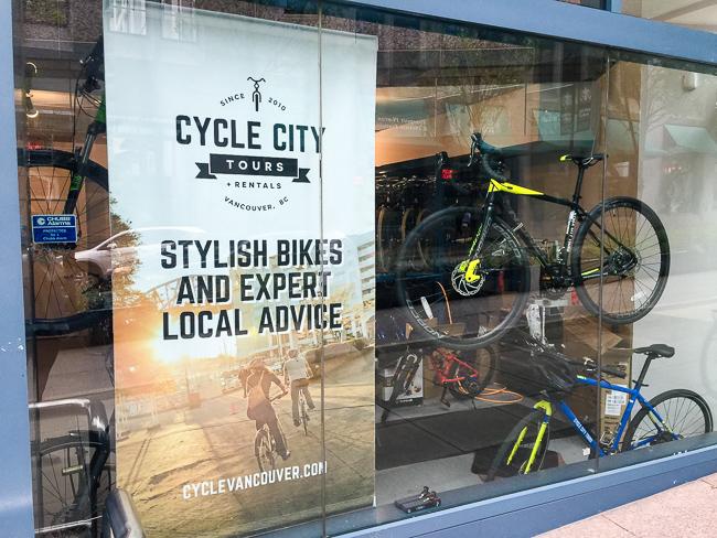 vancouver bike tour entrance