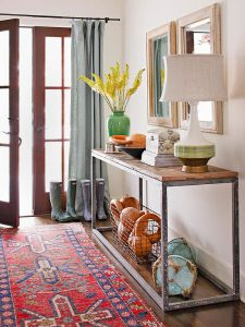 decorating ideas fall front table