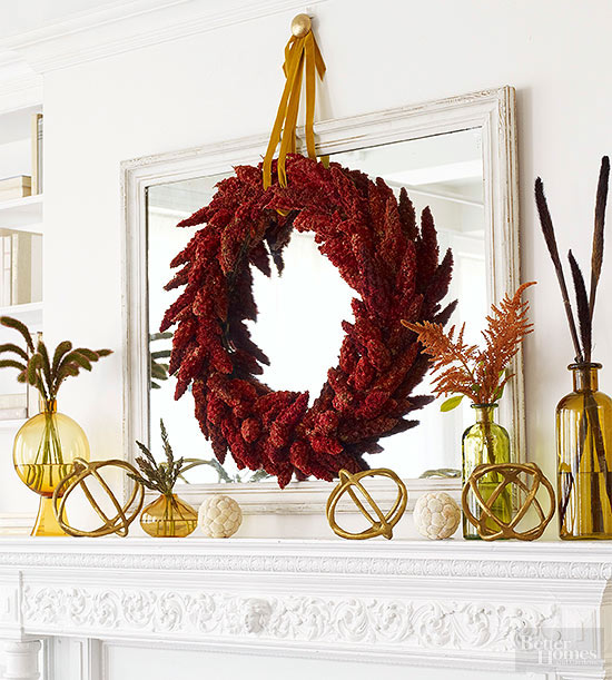 fall decorating ideas for mantle