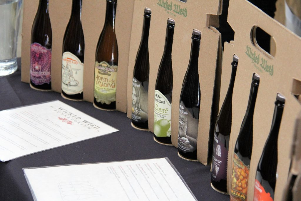 wicked weed funky beer tasting