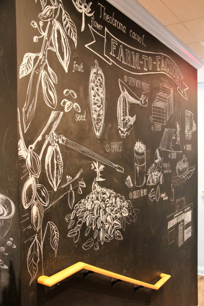 chalkboard art at french broad chocolates