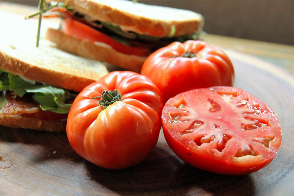tomatoes for BLT recipe