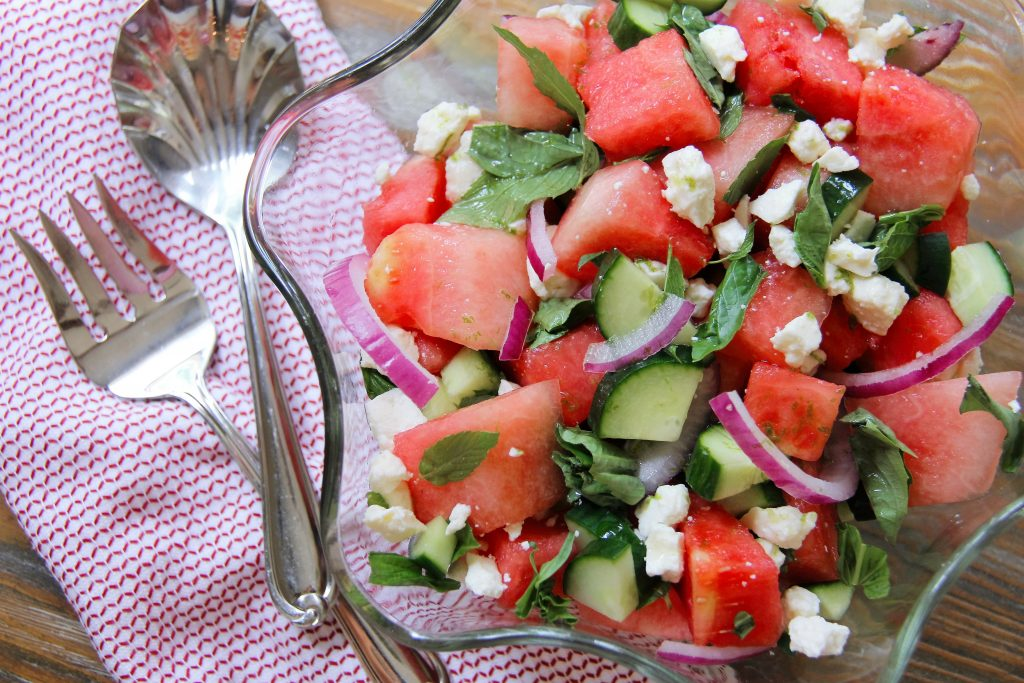 recipe for watermelon feta salad